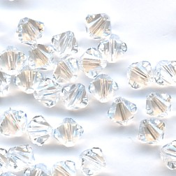 6d43e58a1 6mm Swarovski 5328 Bicone Crystal Moonlight - new replaces 5301